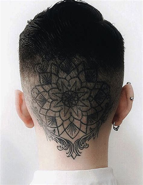 back of head tattoo plain mandala best ideas gallery