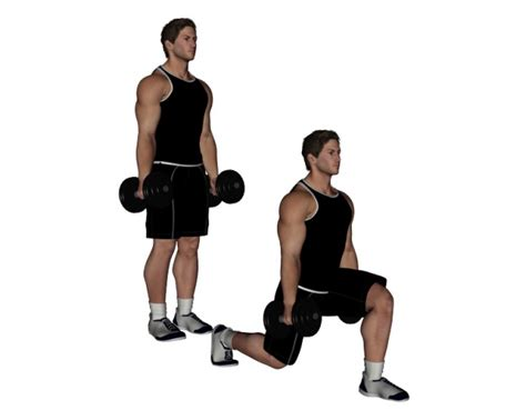 dumbbell bench lunges dumbbell lunge bodybuilding wizard