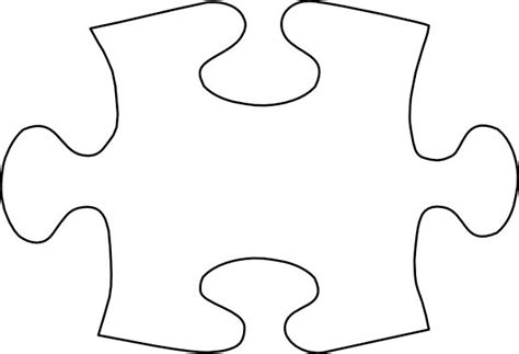 puzzle piece template jigsaw white puzzle piece no