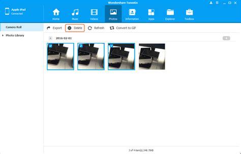 ipad wallpaper camera roll comment supprimer les photos de la pellicule des photos de