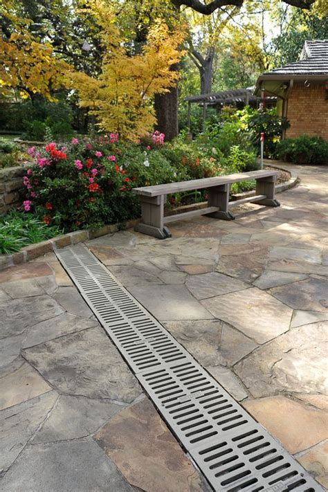 Drainage Channels For Patios by A Channel Drainage System Arounf The Perimeter Would Be