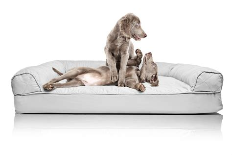 orthopedic sofa bed furhaven quilted orthopedic dog sofa bed pet bed ebay