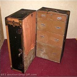 Antique Wardrobe Steamer Trunk Value by Antique Belber Steamer Trunk Wardrobe Chest 2264657