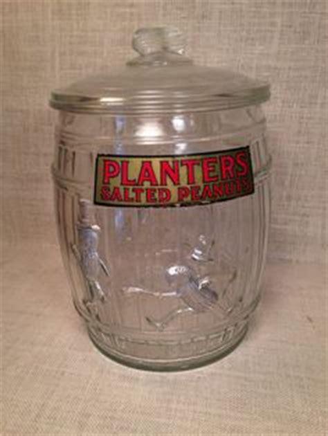 Planters Peanut Shaped Cookies by Vintage Planters Mr Peanut Jar Barrel Shaped Counter