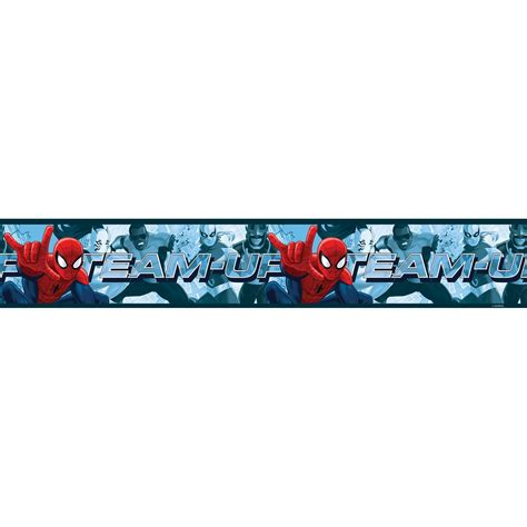 wallpaper borders uk for bedroom spiderman team up 5m long adhesive wallpaper border kids