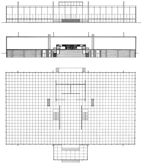 crown hall floor plan crown hall illinois institute of technology mies van der