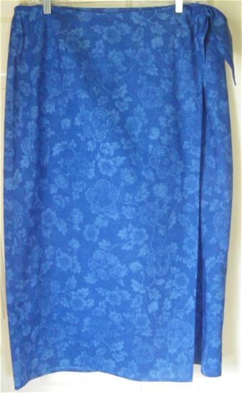 ralph royal blue floral print wrap skirt size 18w