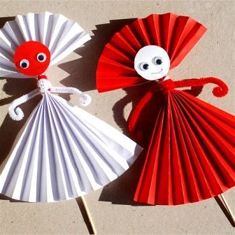 Simple Paper Crafts For Children - easy paper doll craft for easy make origami