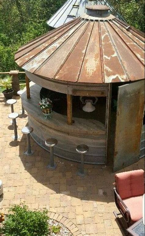 turn a corn bin into a outdoor bar these are the best