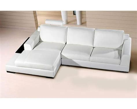 white leather chaise sofa extended chaise base sectional sofa in white leather 44l0537