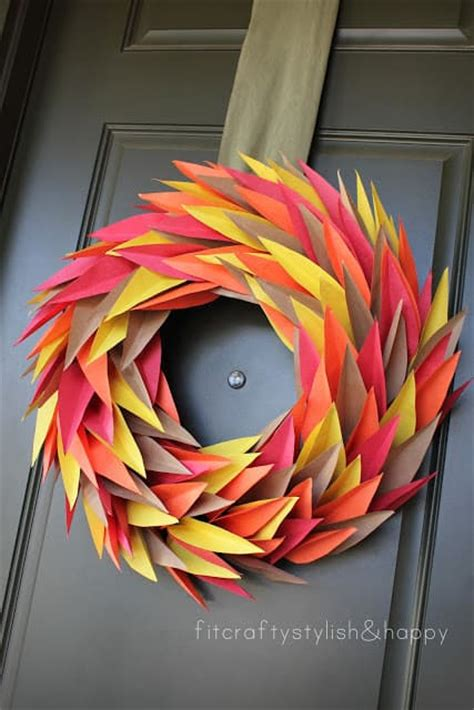 Thanksgiving Crafts With Construction Paper - favorite fall wreaths
