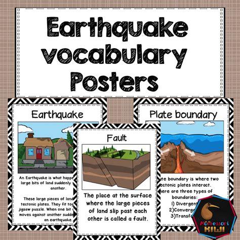 earthquake quiz true or false earthquake posters great for classroom social studies