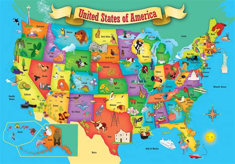 educational maps of the united states usa wood map children s puzzles puzzlewarehouse