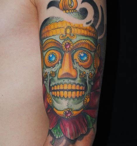 half sleeve nice tibetan skull 40 tribal skull tattoos ideas