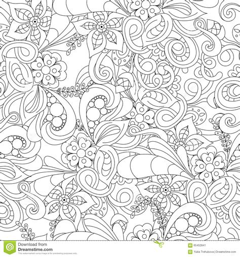 seamless pattern by hand seamless pattern with hand drawn abstract ornament vector