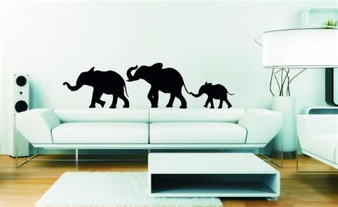wandtattoo elefantenfamilie kinderzimmer wandtattoo elefant