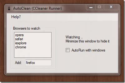 ccleaner silent uninstall ccleaner runner auto clears web browser when closed the