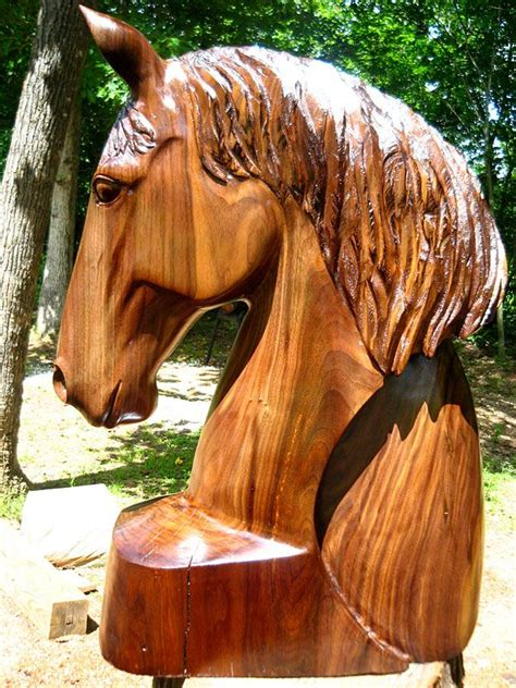 horse head  arc  walnut wood sleepy hollow art