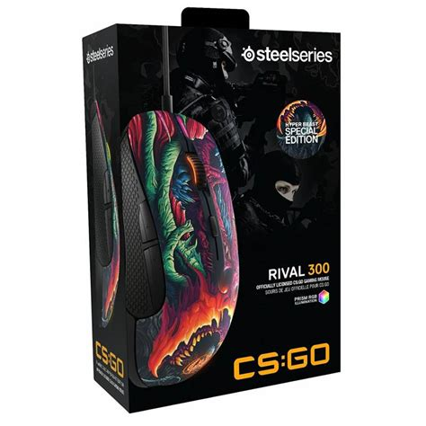 Steelseries Rival 300 Cs Go Limited Edition steelseries rival 300 cs go hyper beast edition gaming