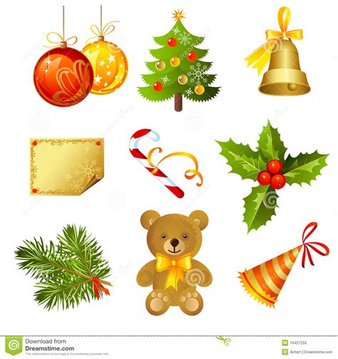 christmas icon stock vector image of cartoon