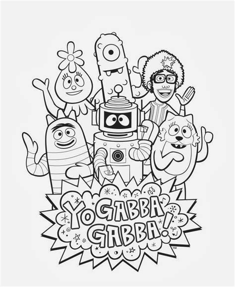 yo gabba gabba coloring pages inspired by enter my yo gabba gabba coloring