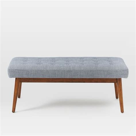 mid century upholstered bench mid century upholstered bench west elm
