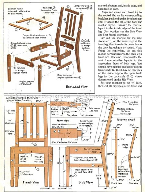 kitchen furniture plans contemporary dining chair plans woodarchivist
