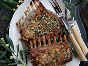 garlic crusted roast rack of recipe kenny rochford