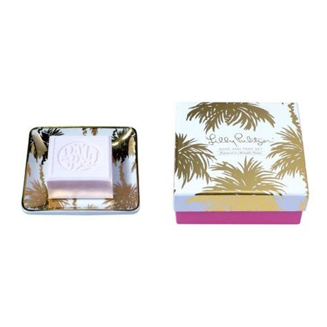 Lilly S Soap Kitchen by Soap And Tray Set By Lilly Pulitzer In Metallic Palms Pattern