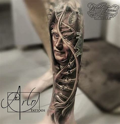 francis crick amp double helix dna best tattoo design ideas