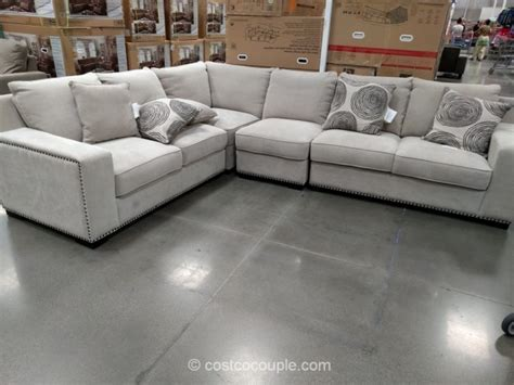 costco sectional bainbridge 4 piece fabric sectional