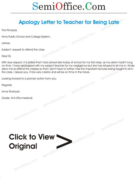 Apology Letter To For Late Coming sle apology letter to