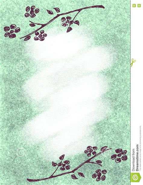 vintage letter template textured floral background vintage card with