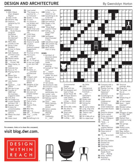 free printable star magazine crossword puzzles new york times dwr design and architecture crossword