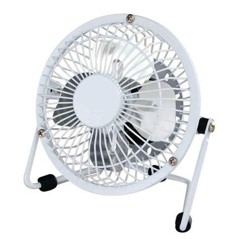 Usb Powered White Tiltable 4 Inch Mini Desk Fan
