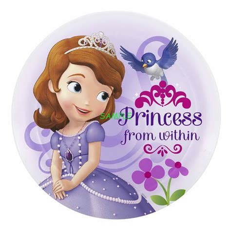 Edible Garden Cake Decorations Sofia The First Kid Round Edible Birthday Cake Topper