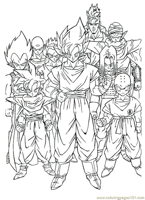 printable coloring pictures of dragon ball z coloring pages dragonballz 12 cartoons gt dragon ball z