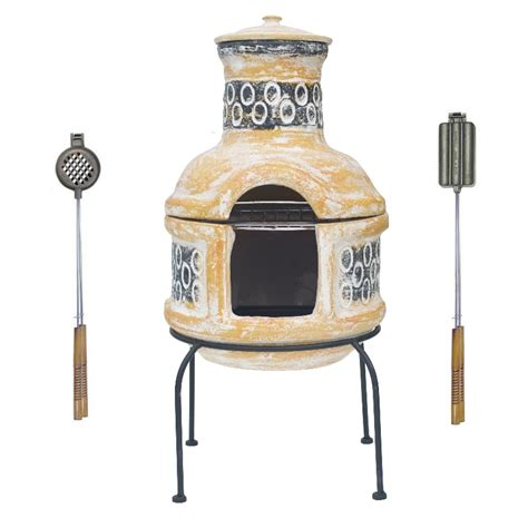 chiminea grill plate clay chiminea bbq cast iron burger grills ebay