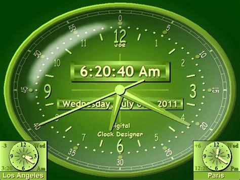 pc themes clock free download digital clock talking clock text to speech clock software