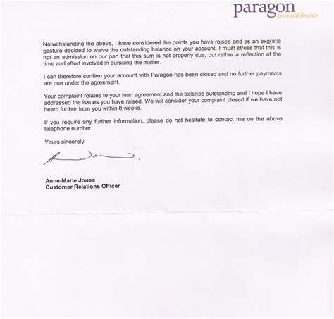 Exle Universal Credit Letter Universal Credit Paragon Debt Hell Letter From Paragon Finance Universal Credit