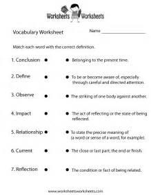 english vocabulary worksheet