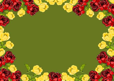 border design flower yellow free red and yellow flower frame png rosenrahmen
