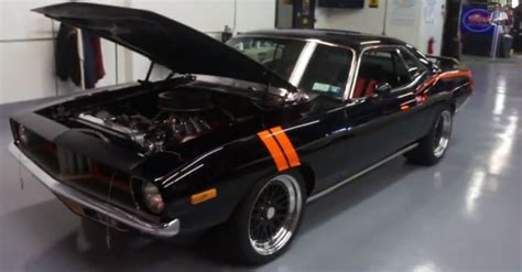 modded muscle cars 1973 plymouth barracuda pro touring resto mod mopar