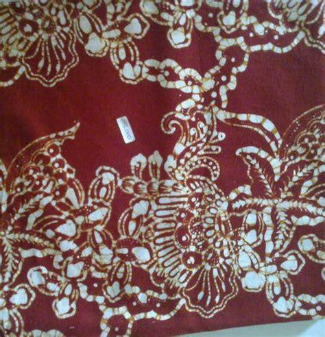 Batik Tenun Maroon gambar jual kain batik motif kawung warna merah lapak