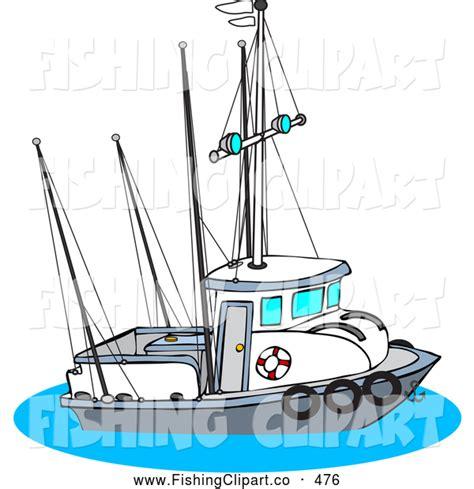 trawler boat clipart clip art of a trawler fishing boat on the ocean by djart