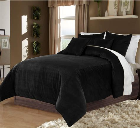 hotel collection bedding 100 velvet black full queen