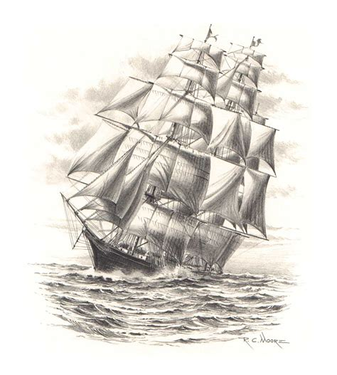drawing sketches images pencil sketch painting of the clipper ship america