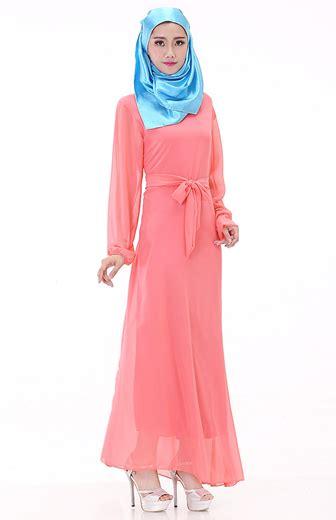 Baju Gamis Lebaran Bahan Sifon koleksi model baju gamis terbaru lebaran bahan chiffon