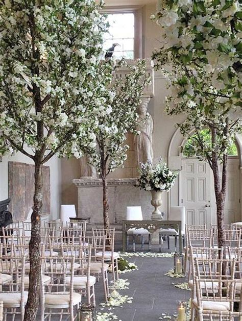 Wedding Aisle Tree Hire by Palmbrokers Events Portfolio White Wedding