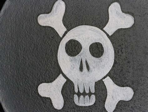 backyard skulls skull and crossbones hand painted wooden skillet by our